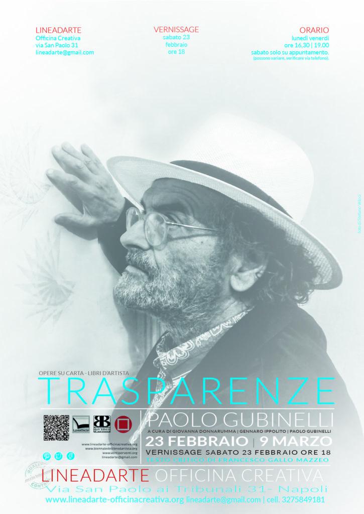 Trasparenze |  PAOLO GUBINELLI OPERE SU CARTA, LIBRI D'ARTISTA